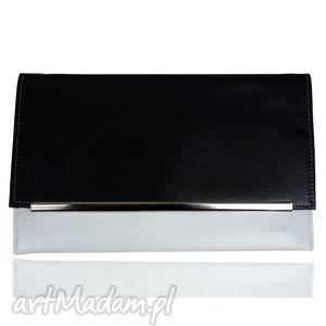 hand made kopertówki kopertówka koperta manzana black & white