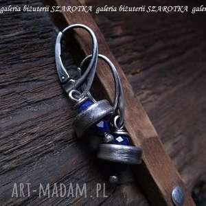 PRYWATNE PLANETY kolczyki z lapisu lazuli i srebra, lapis, lazuli, srebro, oksydowane