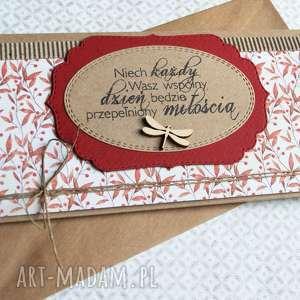 Kartka - kopertówka ślubna:: jesienna kartki kaktusia