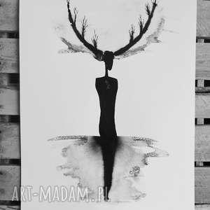 oryginalna grafika minimalizm abstrakcja,romantyczny, minimalizm, skandynawski,30x42
