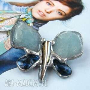 hand-made broszki broszka: motyl niebiański