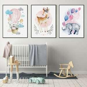 Zestaw 3 plakatów dziecięcych #2 b2 50x70 cm pokoik dziecka