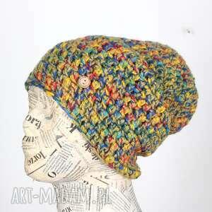 050 czapka wełna kolorowa beanie unisex, czapka, beanie, na prezent