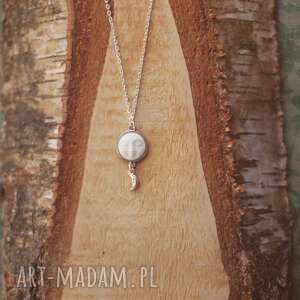 Moonspell - naszyjnik z księżycem, księżyc, księżycowy, kość