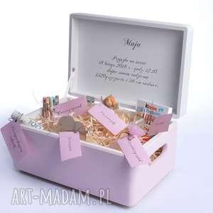 dla dziecka pudełko na pamiątkę urodziny chrzest, metryczka, prezent