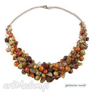 pani jesień - karneol, jesień, jesienny, lniany, naturalny, drewno