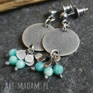 kolczyki ze srebra z amazonitami