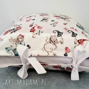 poszewka na poduszkę alicja w krainie czarów, pościel dziecięca, bawełna premium