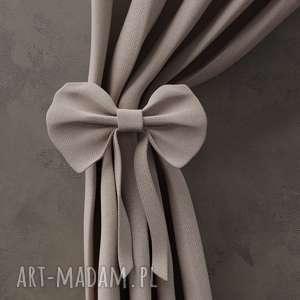 dekoracje zasłona tweed jodełka beige, zasłona, zasłonka, tweed, wiązanie