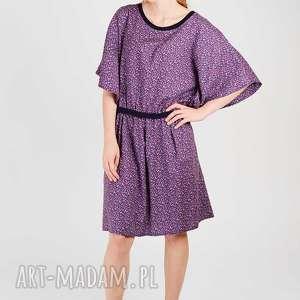 bawełniana sukienka z łączką, łaczka, floral, kwiaty, wzorzysta, nadruk,