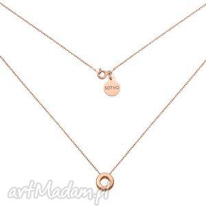 naszyjniki naszyjnik z różowego złota przestrzenną karmą, modny