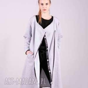 handmade bluzy bluza długa margos-szara