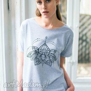 koszulki lotos oversize t-shirt, oversize, tshirt, szary, bawełna, moda, casual
