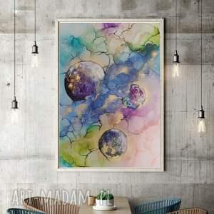 art is hard gallery planety, kosmos - obraz ręcznie malowany z strukturą 3d