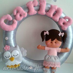 Personalizowana girlanda z imieniem dziecka, girlanda, dekoracja, filc