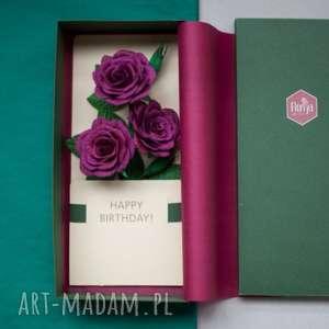 Karteczki 3d na prezent papier kwiaty kartki mira flowers93
