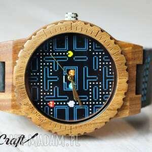 zegarki drewniany zegarek pacman hawk, zegarek, drewniany, pacman, ekologiczny, lekki