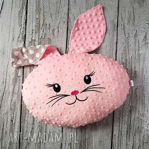 Ozdobna i praktyczna poduszka królik, poduszka, maskotka, serca, dziecko