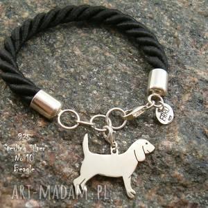 ręcznie zrobione beagle srebro próby 925 bransoletka (nr. 10)