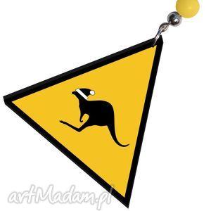 modny design uwaga świąteczne kangury, trójkąt, kolczyki, kangur