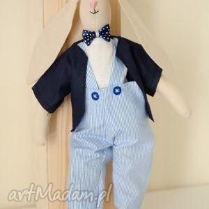 Uroczy Pan Królik - idealny dla małego chłopca! - ,dziecko,prytulanka,króliczek,maskotka,