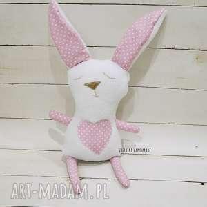 misiostworek - królik róż - maskotka, pluszak zabawka