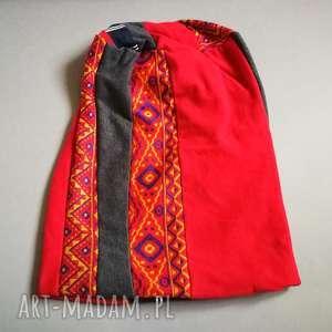 czapka damska patchwork etno boho - czapka, patchwork, wzory, kolorowa, boho, dresowa