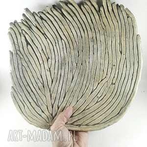 Prezent Patera ceramiczna - trawa morska, dekoracja, sztuka, patera, prezent