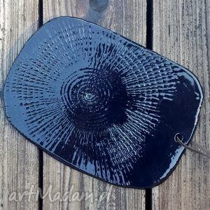 Deska do serwowania ceramiczna czarna, deska, talerz, patera, ceramiczna,