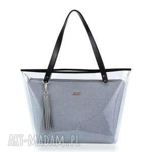 torebka delise 2w1 1056 szara gładka, delise, foliowa, wkłady, wymienne, modna