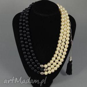 Kolia naszyjnik Martha, kolia, korale, naszyjnik, perły, perłowa, duża