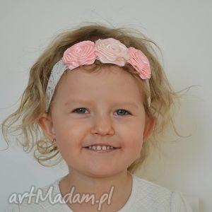 ręcznie wykonane ozdoby do włosów opaska na gumce dla dziewczynki