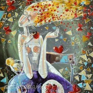 handmade dekoracje myśli kobiety - 80 x 65