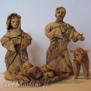 ceramika szopka bożonarodzeniowa, rękodzieło glina, szopka, bożenarodzenie