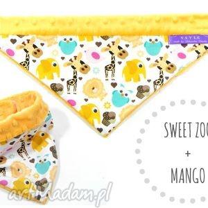 Apaszka minky Sweet ZOO, apaszka, minky, ciepła, shannon, mango