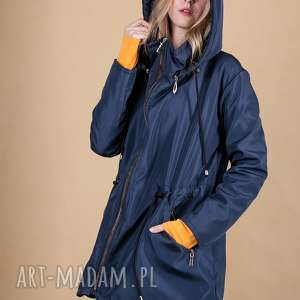 kurtka damska z odpinanym kapturem-granatowa, kurtki, bluzki, marynarki, bluzy