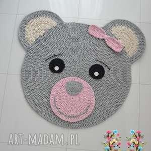 Dywan Miś uszatek róż - krem 100cm , dywan, miś, misiaczek, dywanik, dziecko