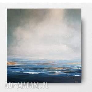 paulina lebida morze-obraz akrylowy formatu 50/50 cm, akryl, płótno, morze