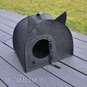 Domek, budka, legowisko dla kota - grafitowy zwierzaki beltrani