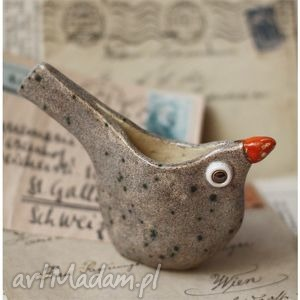pojemnik ptaszek, pojemnik, ceramika, ptak