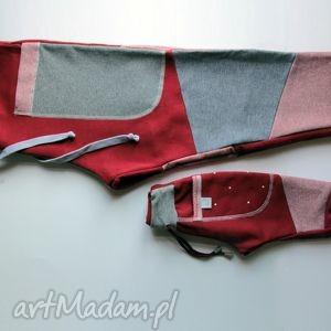 ubranka komplet patch pants - spodnie dla taty i dziecka, zestaw, dres, prezent