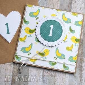 na ROCZEK :: urodzinowa kartka ptaszki, roczek, urodziny