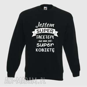ręcznie robione prezent święta bluza z nadrukiem dla chłopaka, faceta, narzeczonego