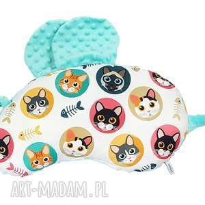 Poduszka pszczółka, poduszka, przytulanka, minky, niemowle, bawełna