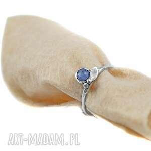 Zgustem tanzanit, pierścionek z-tanzanitem, srebrny, srebro 925,