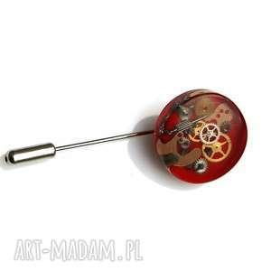 Prezent PIN - MECHANICAL RED, pin, unikat, trybiki, żywica, prezent