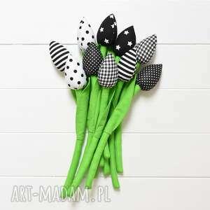 bukiet 5 tulipanów, tulipany, bawełniany bukiet, kwiatki