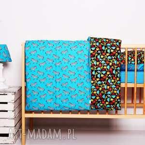 Pościel dziecięca z kołderką 110x125cm i poduszką 50x60cm DINOZAURY od majunto