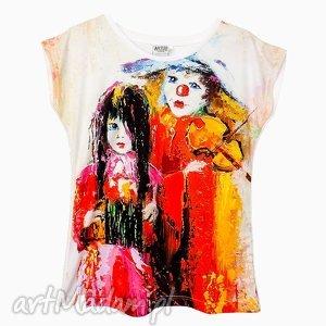 artego artystyczny t-shirt damski - clown wysoka jakość wykonania, modna, bluzka