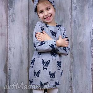 sukienka dla dziewczynki 86-98 - dresówka, bawełna, dziewczynka